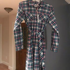 Vineyard Vines Flannel Shirt Dress